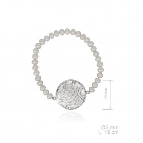 pulsera-elastica-perla-cultivada-con-diseno-disco